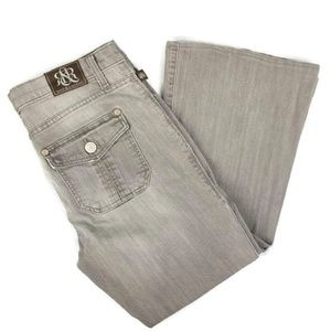 Rock & Republic Women Flare Jeans Size 12M Gray Sc